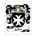 Leduc Family Crest Small Poster