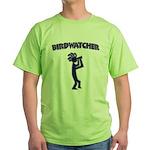 Kokopelli Birdwatcher Green T-Shirt