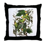 Audubon's Carolina Parakeet Throw Pillow