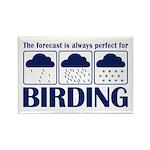 Forecast for Birding Rectangle Magnet