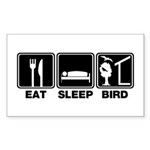 Eat Sleep Bird (v2) Rectangle Sticker