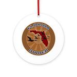 Florida Birder Ornament (Round)
