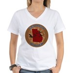 Georgia Birder Women's V-Neck T-Shirt