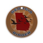 Georgia Birder Ornament (Round)