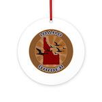 Idaho Birder Ornament (Round)