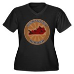 Kentucky Birder Women's Plus Size V-Neck Dark T-Sh