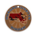 Massachusetts Birder Ornament (Round)