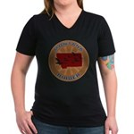 Montana Birder Women's V-Neck Dark T-Shirt