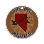 Nevada Birder Ornament (Round)