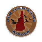 New Hampshire Birder Ornament (Round)