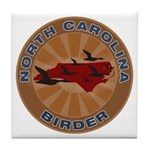 North Carolina Birder Tile Coaster