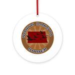 North Dakota Birder Ornament (Round)
