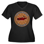 Tennessee Birder Women's Plus Size V-Neck Dark T-S