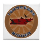 Tennessee Birder Tile Coaster