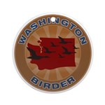 Washington Birder Ornament (Round)