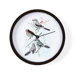 Fuertes' Shrikes Wall Clock