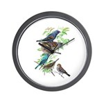 Grosbeaks & Buntings Wall Clock