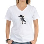Fuertes' Kingfisher Women's V-Neck T-Shirt
