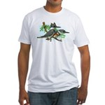 Belted Kingfisher Fitted T-Shirt