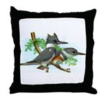 Belted Kingfisher Throw Pillow