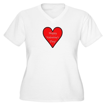 Valentine's Day Heart Women's Plus Size V-Neck T-S
