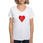 Valentine's Day Heart Women's V-Neck T-Shirt