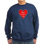 Valentine's Day Heart Sweatshirt (dark)