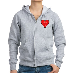 Valentine's Day Heart Women's Zip Hoodie