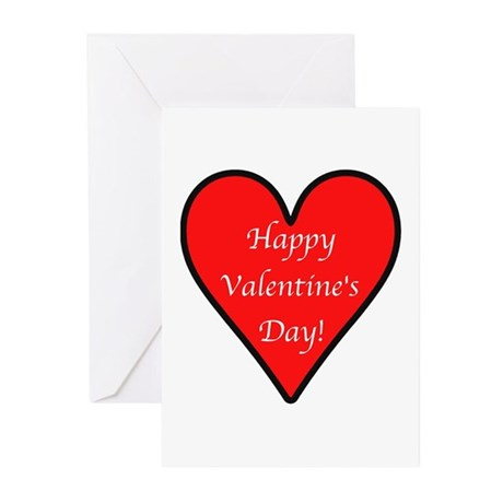Valentine's Day Heart Greeting Cards (Pk of 20)