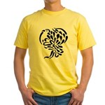 Stylized Turkey Yellow T-Shirt