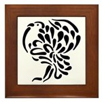 Stylized Turkey Framed Tile