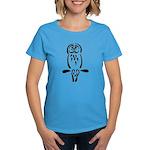 Stylized Barred Owl Women's Dark T-Shirt