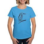 Stylized Kingfisher Women's Dark T-Shirt