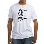 Stylized Kingfisher Fitted T-Shirt