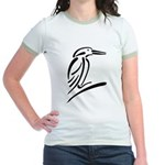 Stylized Kingfisher Jr. Ringer T-Shirt