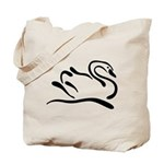 Stylized Swan Tote Bag