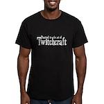 Practiced in Twitchcra Men's Fitted T-Shirt (dark)