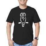 Stylized Barred Owl Men's Fitted T-Shirt (dark)
