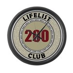 Lifelist Club - 200 Large Wall Clock