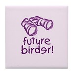 Future Birder Tile Coaster