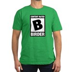 Rated B: Birder Men's Fitted T-Shirt (dark)