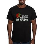 Be Vewy Quiet I'm Bird Men's Fitted T-Shirt (dark)