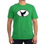 Snowy Owl Oval Men's Fitted T-Shirt (dark)