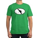 Gull Oval Men's Fitted T-Shirt (dark)