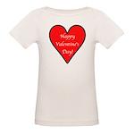 Valentine's Day Heart Organic Baby T-Shirt