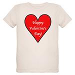 Valentine's Day Heart Organic Kids T-Shirt