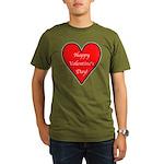 Valentine's Day Heart Organic Men's T-Shirt (dark)