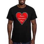 Valentine's Day Heart Men's Fitted T-Shirt (dark)