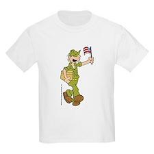 Flag-waving Beetle Kids Light T-Shirt