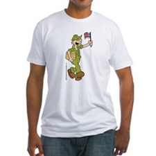 Flag-waving Beetle Fitted T-Shirt